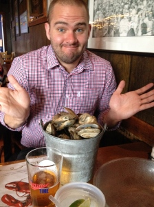 Ordered a bucket of beer. Got a bucket of steamers. WELP.