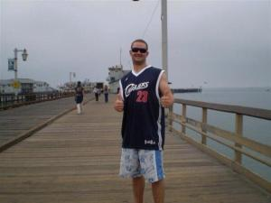 My second ever LeBron jersey, circa 2008. Dork.